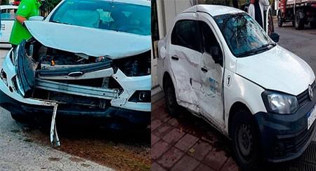 Esta mañana,  fuerte colisión entre dos vehículos