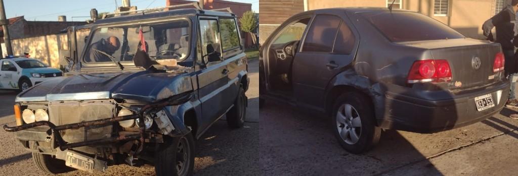 Matheu y Boer: Colisión entre dos vehículos sin heridos