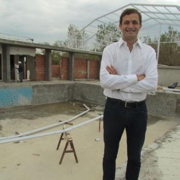 Avanza la obra de la Pileta Climatizada en el Parque Municipal