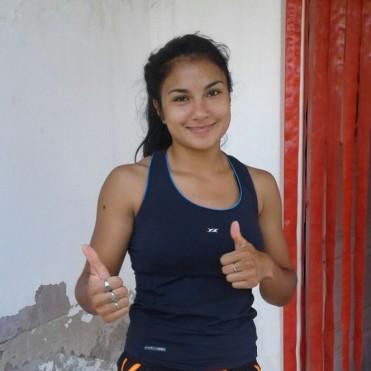 Antonella Albo cumple su sueño de pelear en el Campeonato en la Liga Metropolitana