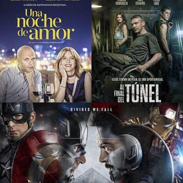 El Capitán América, Una Noche de Amor y Al final del Túnel, en el Avenida