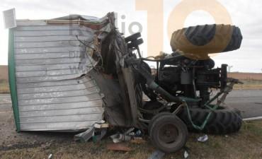 Un tractorista hospitalizado a raíz de un accidente
