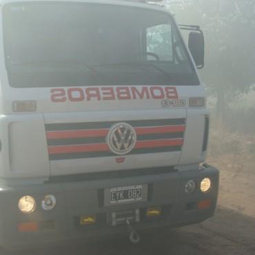Incendio de una cosechadora en inmediaciones de la Escuela Agrícola
