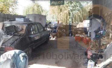 Tras la inspección en Pirovano, se realizó una inspección de similares características y resultados en un taller mecánico de Barrio Cooperativa