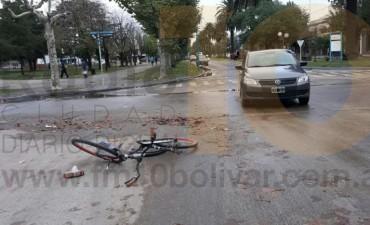 Accidente de Lavalle y San Martín; un ciclista hospitalizado