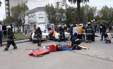 Jornada de entrenamiento en emergencias y trauma pre-hospitalario finalizó este sábado con un simulacro que involucró a todas las fuerzas de la ciudad