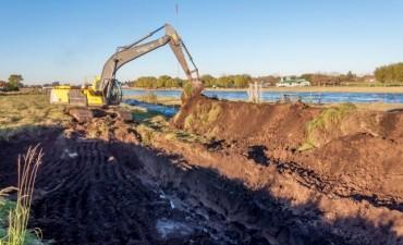 Inundaciones: El terraplén que se está construyendo tiene 10 kilómetros