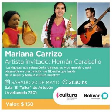 Hoy se presenta Mariana Carrizo junto a Hernán Caraballo en la Sala 'El Taller' de Artecon