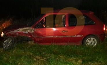 Ayer domingo: Accidente en Ruta 65, impactaron lateralmente dos vehículos
