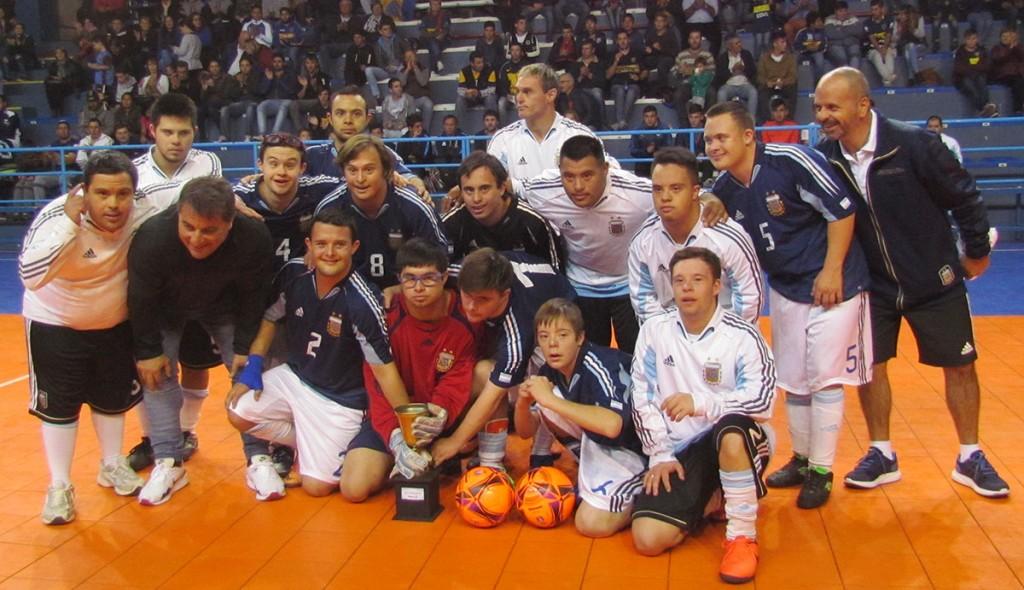 La Selección Argentina de Fútbol Sindrome de Down fue parte del evento Boca