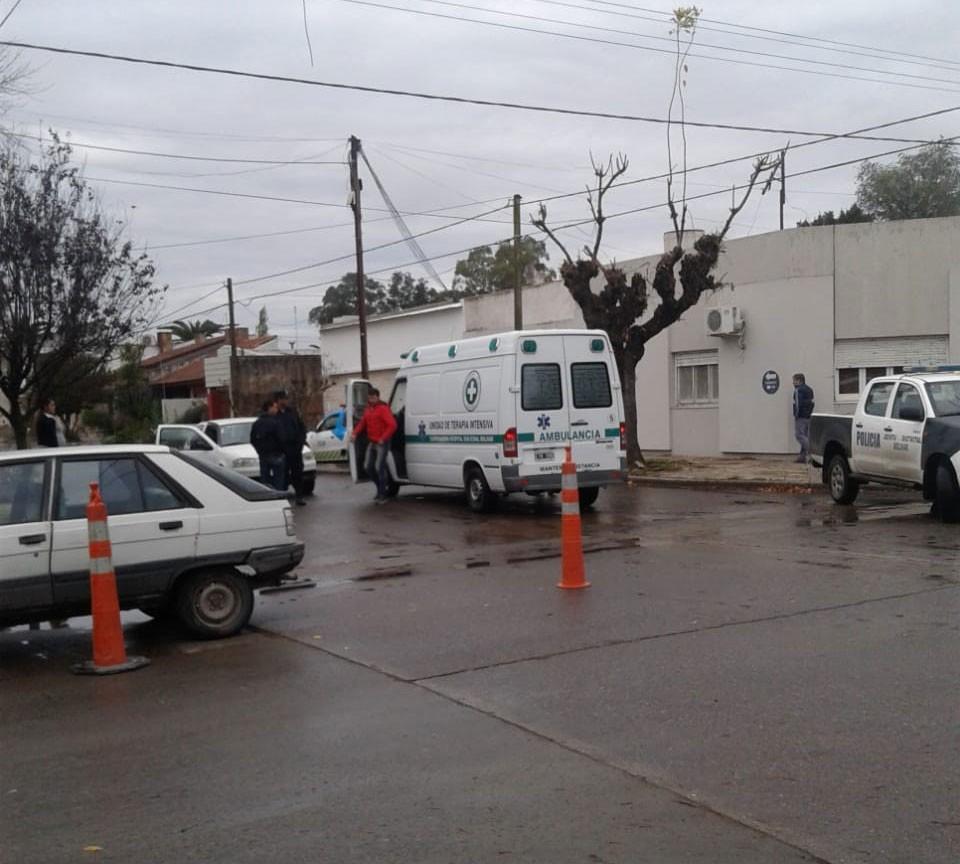 Leve colisión en Rivadavia y Sarmiento