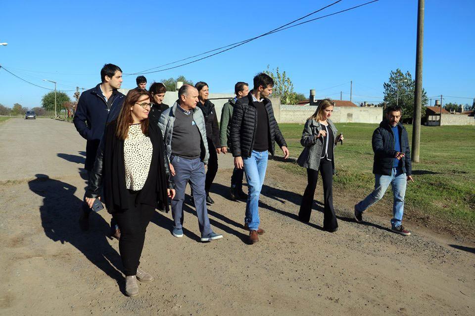 Funcionarios municipales recorrieron obras acompañados por técnicos de Promeba y concejales