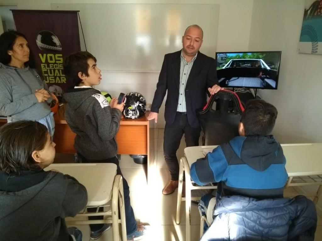 El municipio brinda charlas sobre educación vial en las escuelas