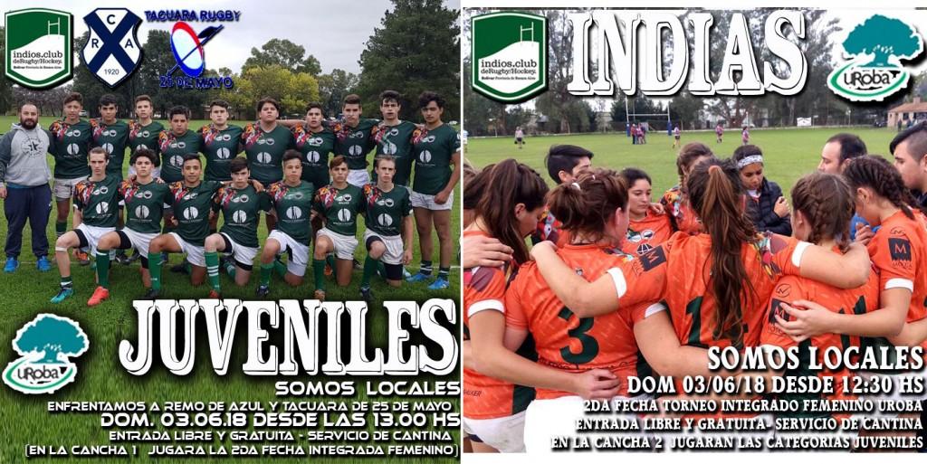 Rugby: Actividades de los Indios (informe oficial)