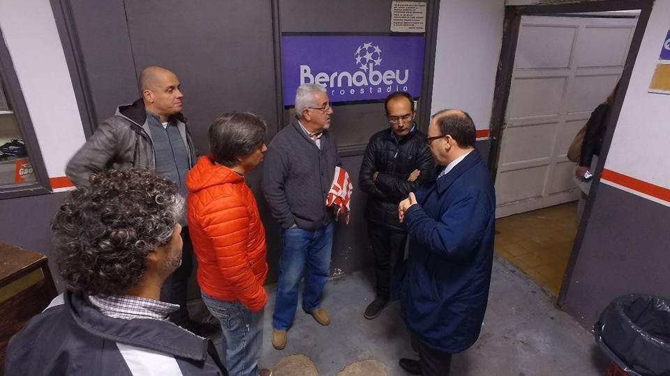 Marcos Pisano recorrió la sede del Club Empleados, a horas de su centenario