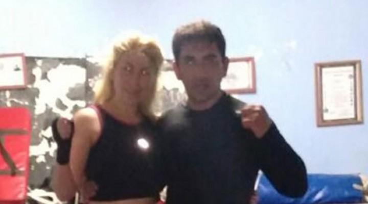 Fernando y Geraldine Westdorp juntos en el Kick Boxing
