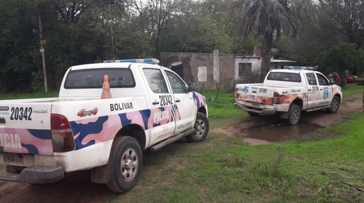 Personal del CPR de Bolívar estableció que un bolivarense sería el responsable del hecho