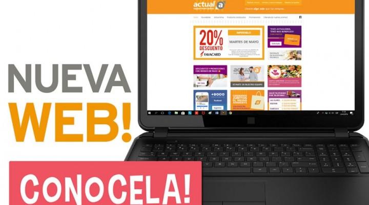 Actual Supermercados lanza su página web
