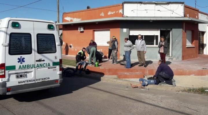 Colisión en Larrea y Sáenz Peña