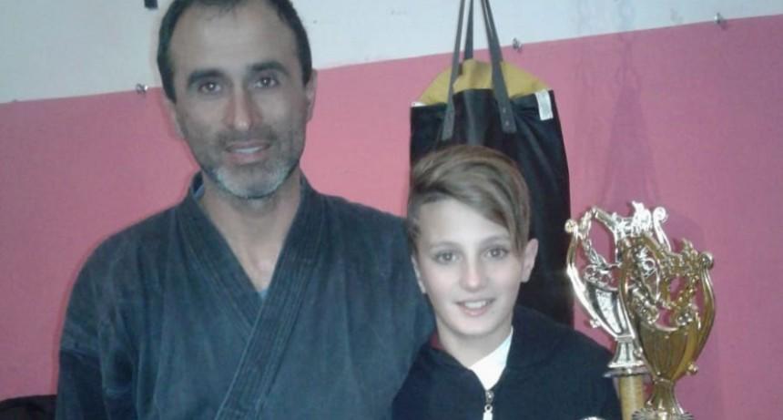 Karate: Un menor bolivarense participó de la 10º Copa Zhong Gou en Uruguay