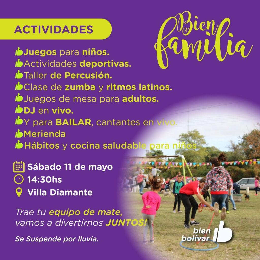 El programa municipal Bien Familia llega a Barrio Villa Diamante