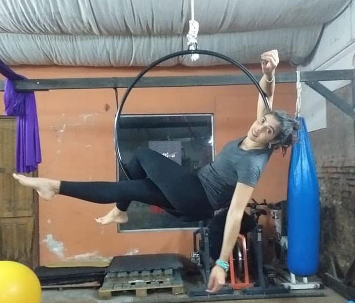 Continúan las acrobacias aéreas en Positivo Gym