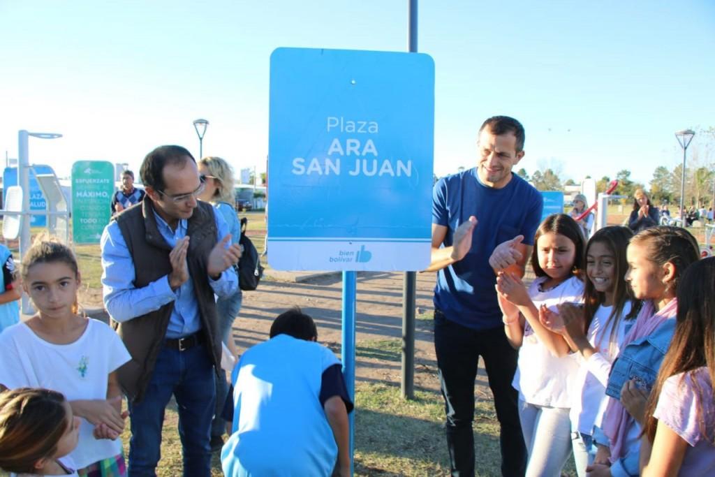 El Intendente Pisano inauguró la plaza A.R.A San Juan del barrio Zorzales Nuevo
