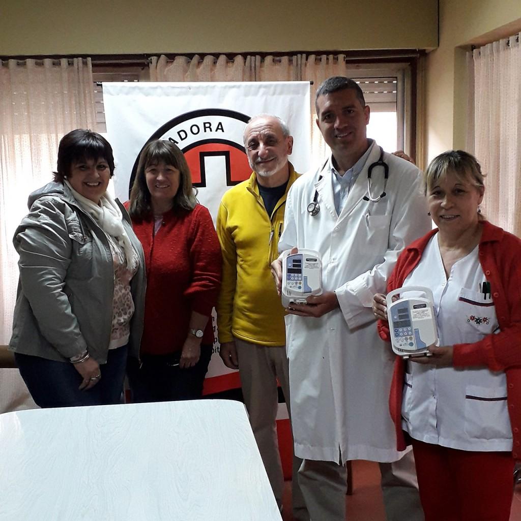 La Cooperadora del Hospital local adquirió dos bombas de infusión para el servicio de clínica medica