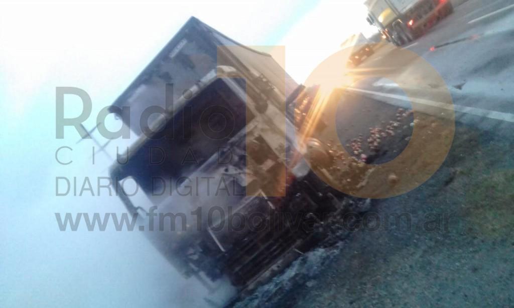 Ruta 65: Daños totales a raíz del incendio de un camión térmico