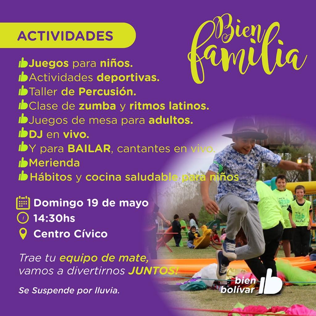 Se podrá disfrutar del programa Bien Familia en el Centro Cívico