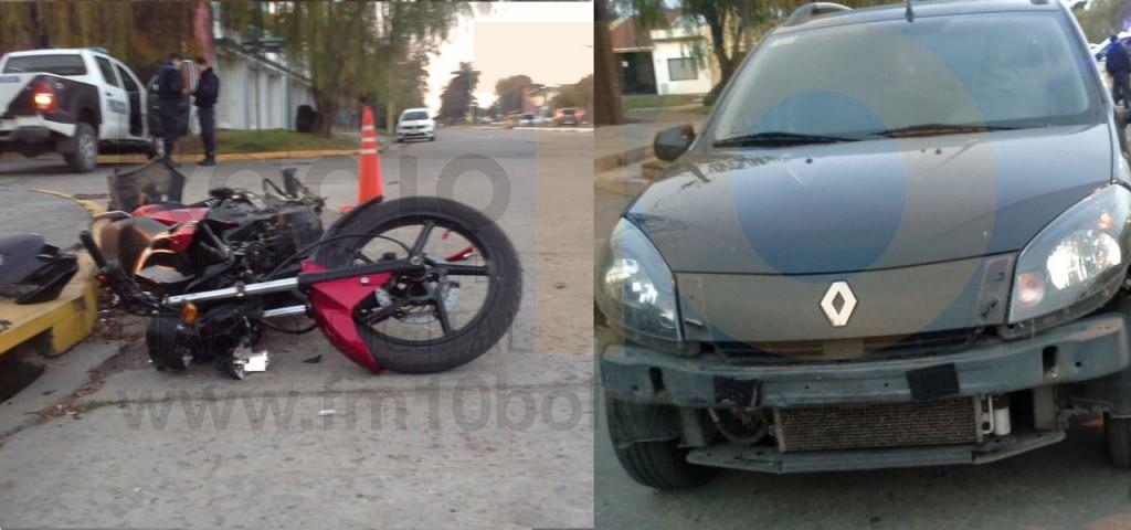 Violento impacto sobre Av. 3 de febrero dejó como saldo un motociclista hospitalizado