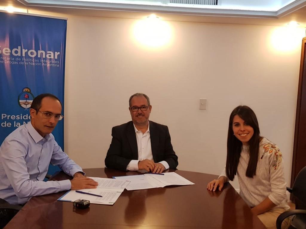 El Intendente Pisano firmó un nuevo convenio con SEDRONAR