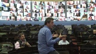 Los presidentes de bloque avanzarán en el temario de la primera sesión virtual de Diputados
