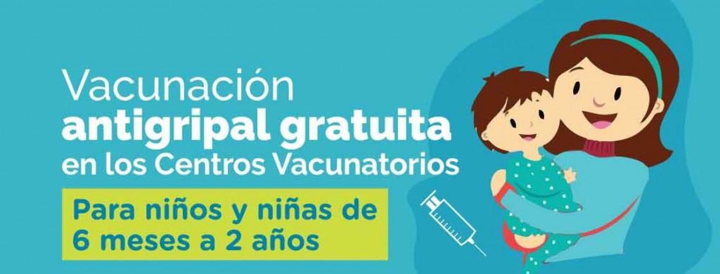 Comenzó la campaña de vacunación antigripal para niños y niñas de 6 meses a 2 años
