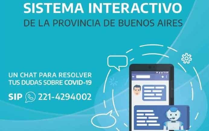 La Provincia lanzó un chat automático de WhatsApp con información sobre el coronavirus