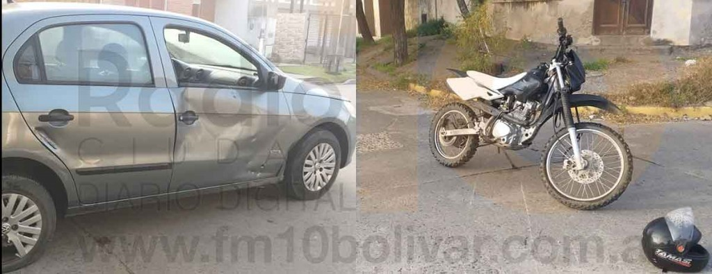 Impacto en Alberti y Sáenz Peña; ambos conductores se encuentran fuera de peligro