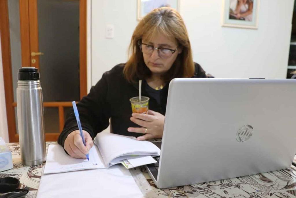 Lujan Bouciguez participó de una reunión virtual con la Directora Provincial de Discapacidad