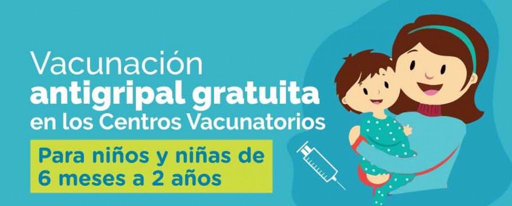 Continúa la campaña de vacunación antigripal para niños y niñas de 6 meses a 2 años