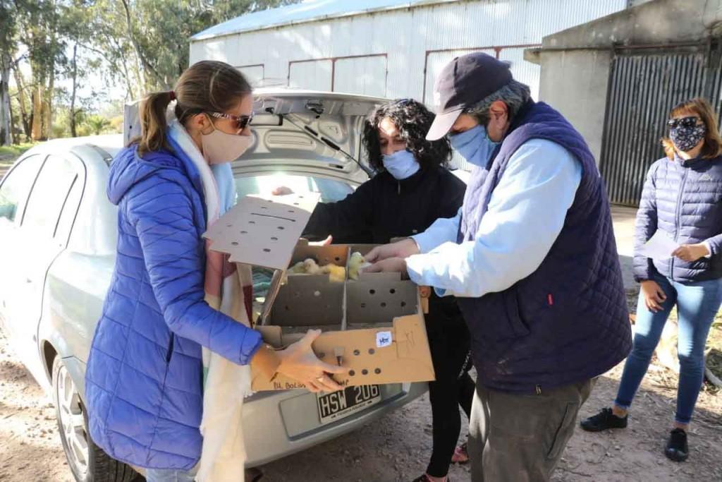 La secretaria de producción entregó aves a través del programa Pro Huerta