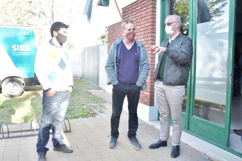 El Ministro de Salud Daniel Gollán en Pehuajó junto a Pablo Zurro