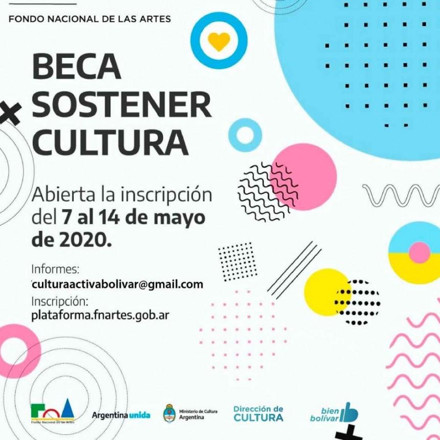 Se encuentra abierta la inscripción para las becas Sostener Cultura