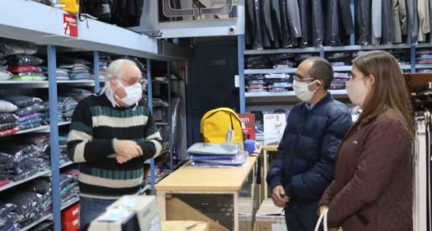 El  Intendente Pisano recorrió comercios locales