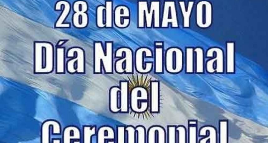28 de mayo; Día nacional del ceremonial y protocolo Argentino