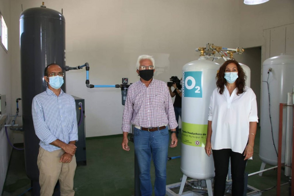 """Norberto García: """"Adquirimos por intermedio del Municipio, dos fábricas de oxígeno que se sumarán en término de treinta días"""""""