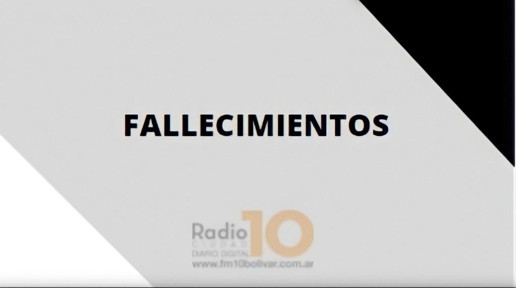 Falleció en Bolívar Nélida Raquel Sánchez, viuda de Torraco