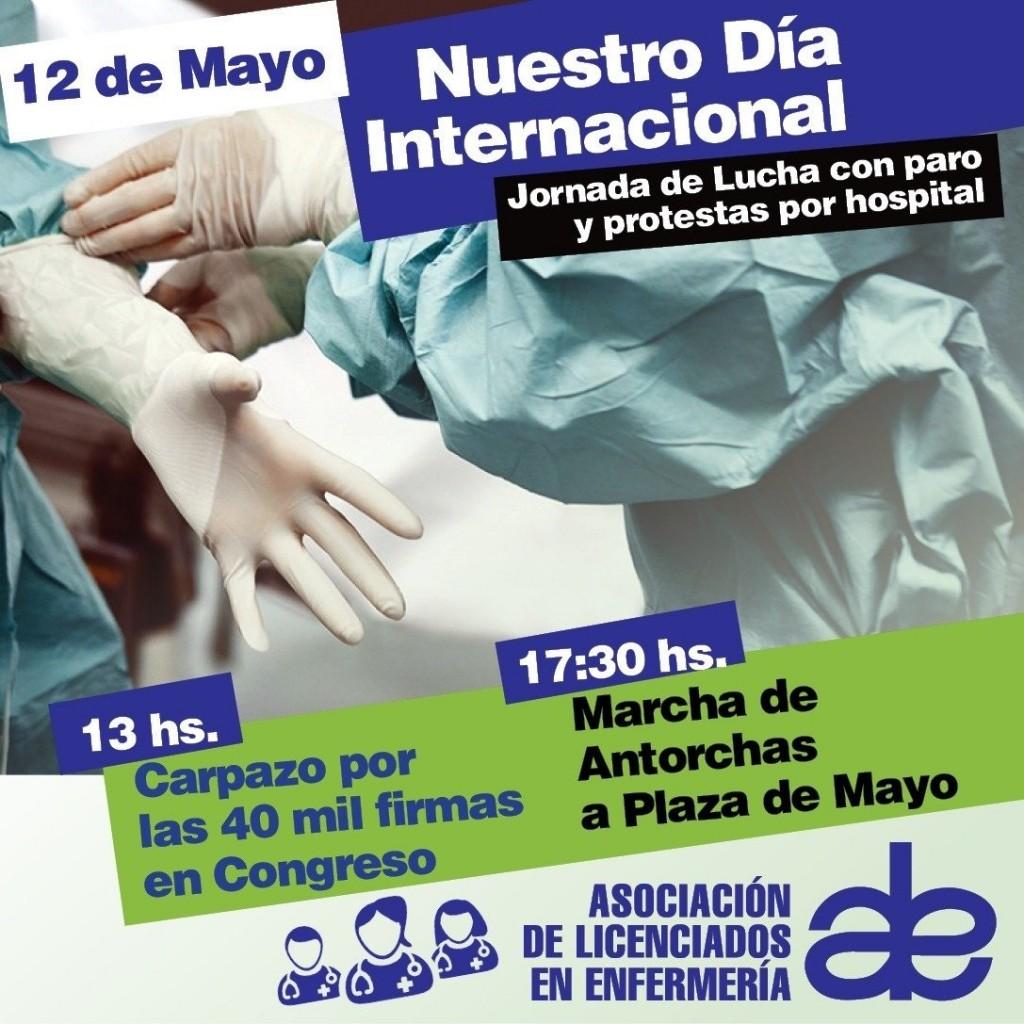 """Día Internacional de la Enfermería: 'Carpazo' en Congreso y Marcha de Antorchas con la Comunidad"""""""