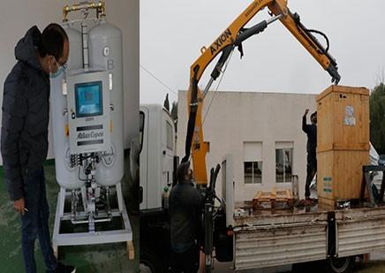 Llegaron las dos nuevas Plantas de Oxígeno al hospital Capredoni