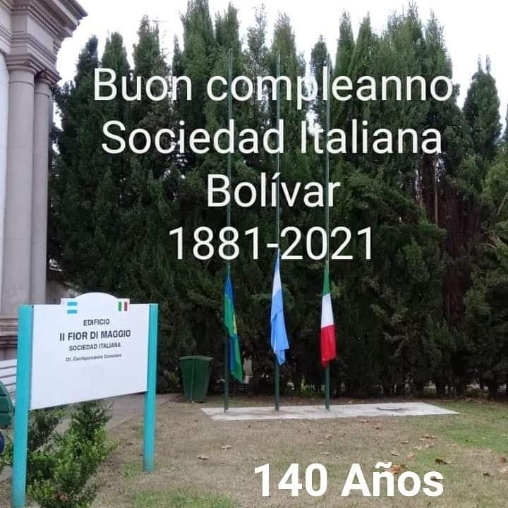 La Sociedad Italiana en Bolívar cumplió 140 años desde su creación