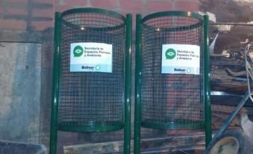 Se están colocando 'Canastos Domiciliarios' en el barrio 'María del Carmen'