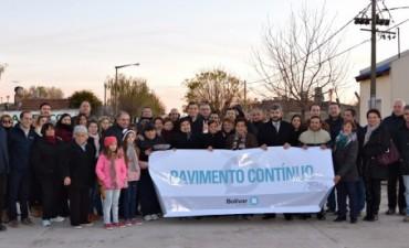 El Intendente inauguró el pavimento en barrio Solidaridad